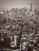Flatiron Building and 5th Avenue - stock photo