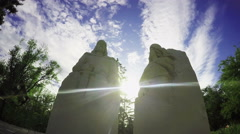 Two Sculptures In The Ray Of The Sun - stock footage
