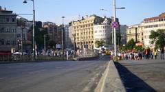 Karakoy Galata neighborhood very close to Istiklal Avenue - stock footage