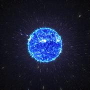 Fire ball star 3d render - stock illustration