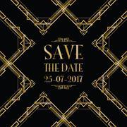 save the date wedding invitation - stock illustration
