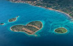 Croatia aerial view - stock photo
