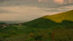 Clouds over tuscan valley Stock Footage