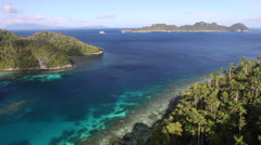Remote Tropical Islands in Raja Ampat Stock Footage