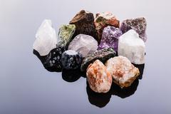 Semi-precious gems heap Stock Photos
