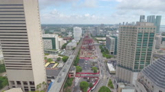 Aerial video Miami Central transit station - stock footage