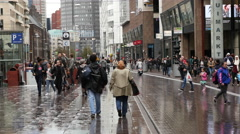 Time Lapse of People in Downtown Den Hague - The Hague Netherlands - stock footage