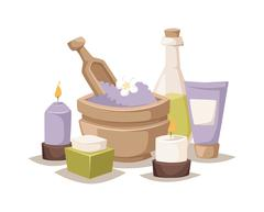 Spa aroma vector icons - stock illustration