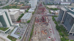 Construction of the Miami Central transit station - stock footage