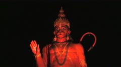 Indian Hanuman statue. Stock Footage