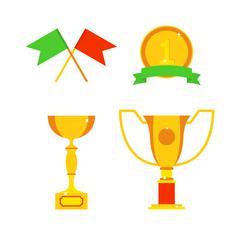 Sports awards vector illustration - stock illustration
