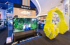 Sony store in Siam Paragon, Bangkok - stock photo