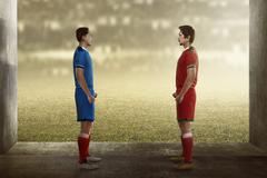 Two football player facing each other Kuvituskuvat
