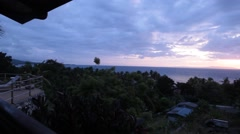 Morning view of ocean Stock Footage
