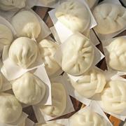 steamed pork buns dumpling, dim sum - stock photo