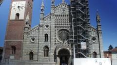 4k Monza, Italy Time Lapse - Duomo Stock Footage