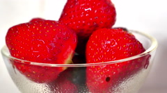 Strawberries in chocolate 4k Stock Footage