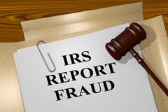 Irs Report Fraud legal concept Stock Illustration