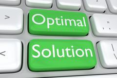 Optimal Solution concept - stock illustration