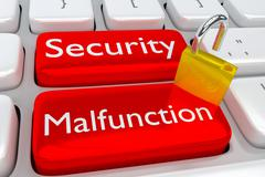 Security Malfunction cyber concept Stock Illustration