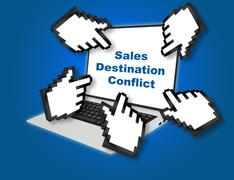 Sales Destination Conflict business concept Stock Illustration