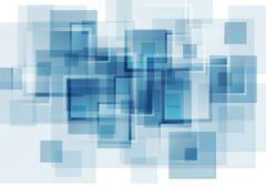 Hi-tech blue abstract background - stock illustration