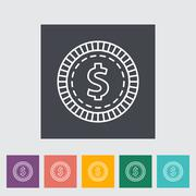 Gambling chips icon Stock Illustration