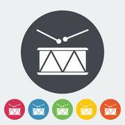 Drum vector flat icon Stock Illustration