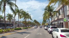 Cruising Washington Avenue Miami Beach Stock Footage