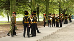 Dutch Military Soldiers on break in The Hague Netherlands Stock Footage