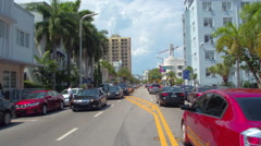Uber and Lyft in Miami Beach Stock Footage