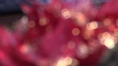 Blurred Christmas illuminations - stock footage