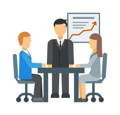 Business training vector illustration Piirros