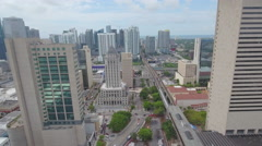 Downtown Miami aerial video skyscrapers Stock Footage