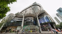 Time lapse at ION Orchard shopping mall - stock footage