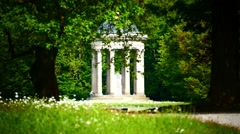 Apollo Tempel Temple Nymphenburg Park Munich Germany Stock Footage