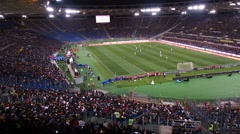Olympic Stadium Rome charity football match Stock Footage