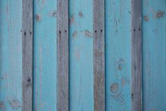 Texture of Wood blue panel for background vertical Stock Photos