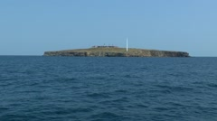 The approach to the island in the sea. Stock Footage