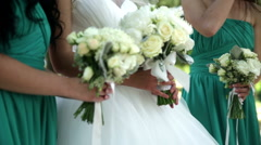 Bouquet in bride's hands Stock Footage