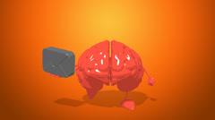 Computer animation - Fun brain - stock footage