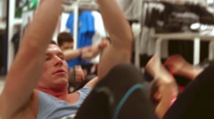 The man shakes his press competitions CrossFit Stock Footage