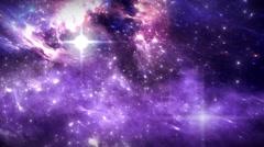 Space flight through nebula. Space travel - stock footage