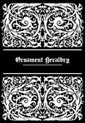 white ornament heraldic - stock illustration