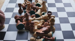 The arrangement of chess pieces on the Board timelapse Stock Footage