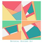 Abstract material designs set Stock Illustration