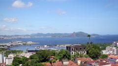 Aerial north zone view from Santa Teresa Rio de Janeiro Stock Footage