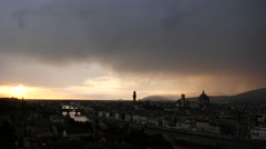 timlapse sunset view over florence - stock footage