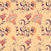 Asian seamless detailed vector pattern Stock Illustration