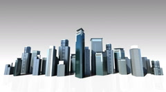Construction building city skyline and make city in animation.3 - stock footage